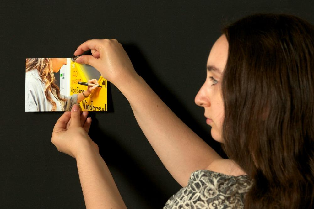 Adding a Photo by using Smarter Surfaces Super magnetic paint