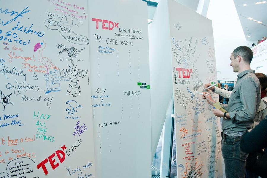 Event on TEDxDublin using smarter surfaces product