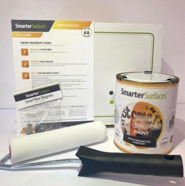 Smart Magnetic Paint Full Kit box and application guide