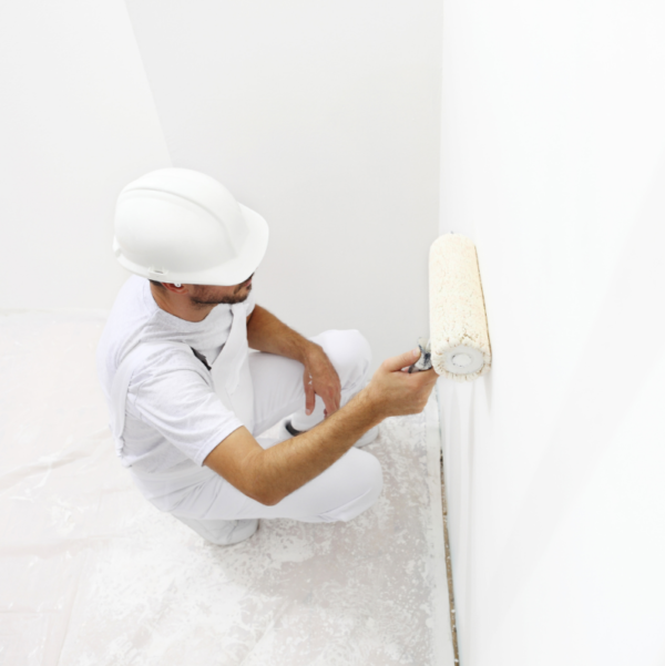 Smart Antimicrobial whiteboard paint being applied