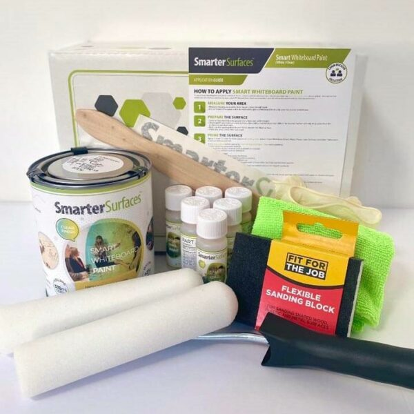 Whiteboard Paint Clear Full Kit with app guide