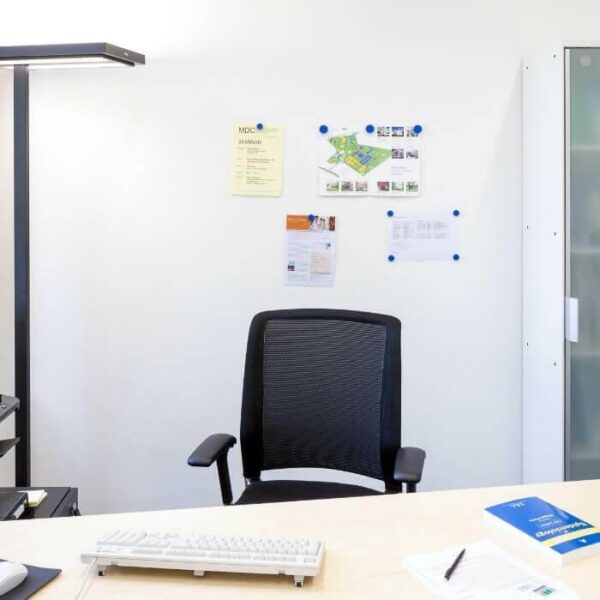 magnetic wall in white office
