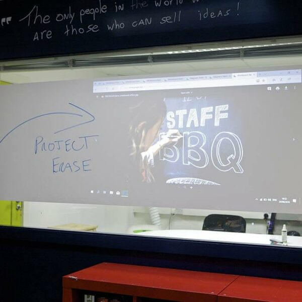 multiple functionality surface projection and dry erase