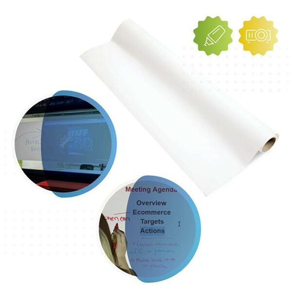 roll of Smarter Surfaces Smart self adhesive whiteboard film Low Sheen Projector and Dry Erase