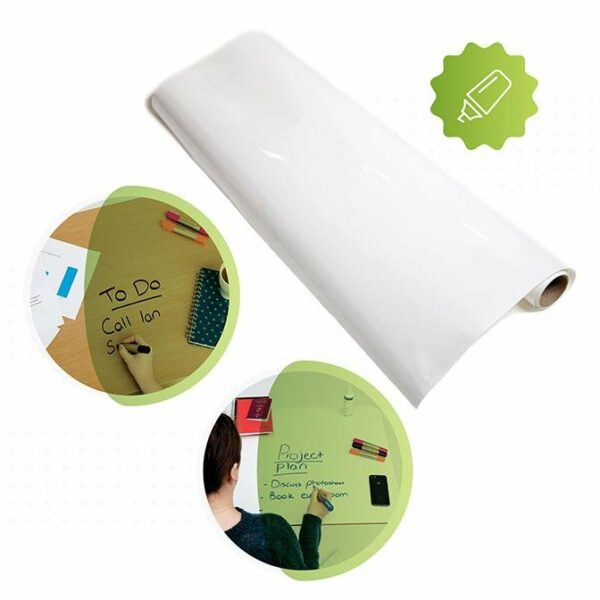 roll of smarter surfaces Smart Self Adhesive Whiteboard Film Clear